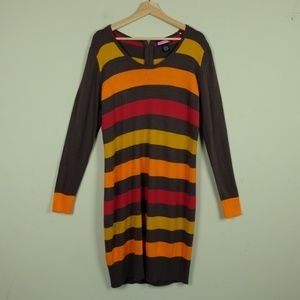 Say what?  Fall Striped Light Sweater Dress